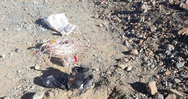 Adıyaman'da yola tuzaklanmış el yapımı patlayıcı bulundu