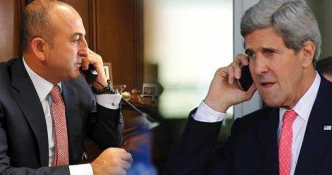 Çavuşoğlu, Kerry ile telefonda görüştü
