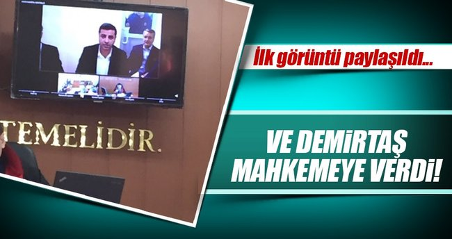 Selahattin Demirtaş SEGBİS ile ifade verdi