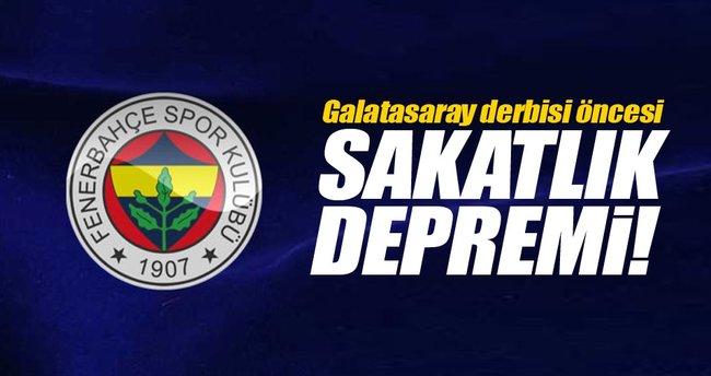 Fenerbahçe'de derbi öncesi sakatlık depremi!