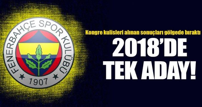 2018'de tek aday