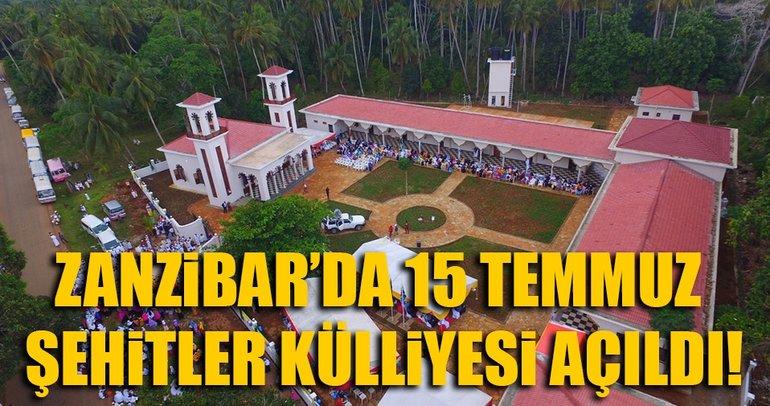 Zanzibar'da 15 Temmuz Şehitler Külliyesi açıldı