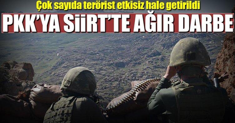 Siirt'teki operasyonda 25 terörist etkisiz hale getirildi