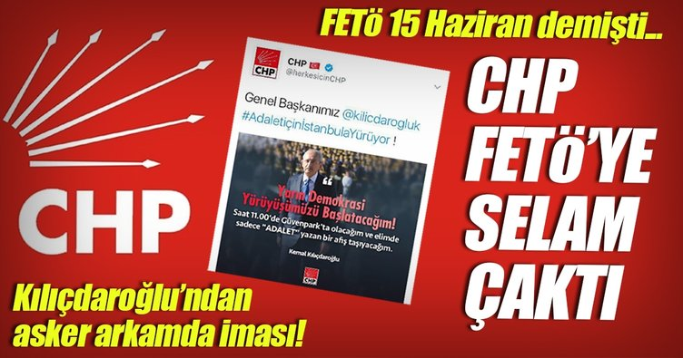 CHP FETÖ'ye selam çaktı!