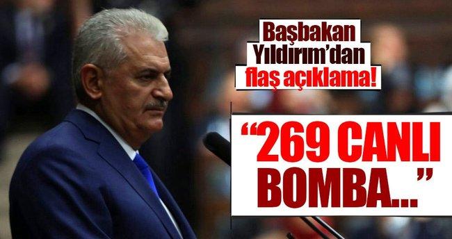 Yıldırım: 269 canlı bomba etkisiz hale getirildi