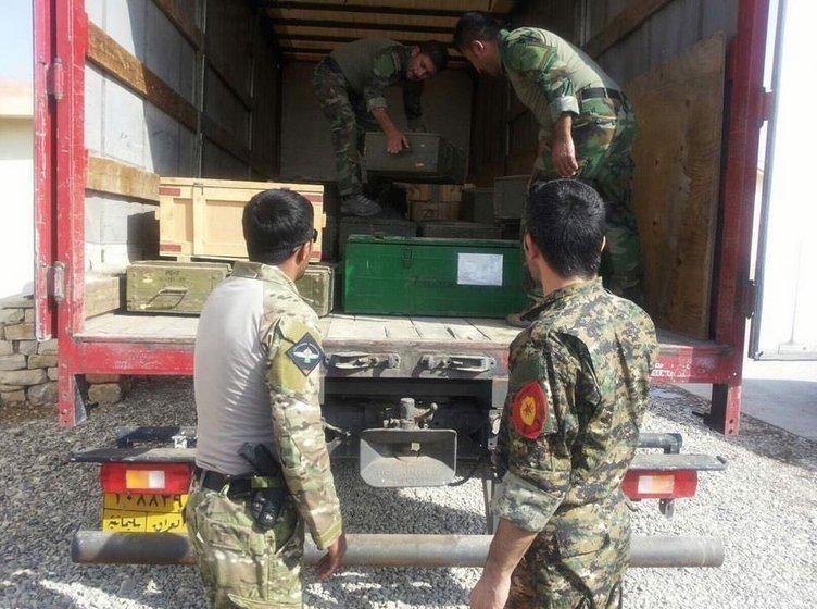 Silahlar YPG'ye ulaştı