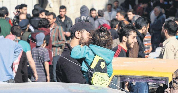 Şam'dan 950 kişi tahliye edildi