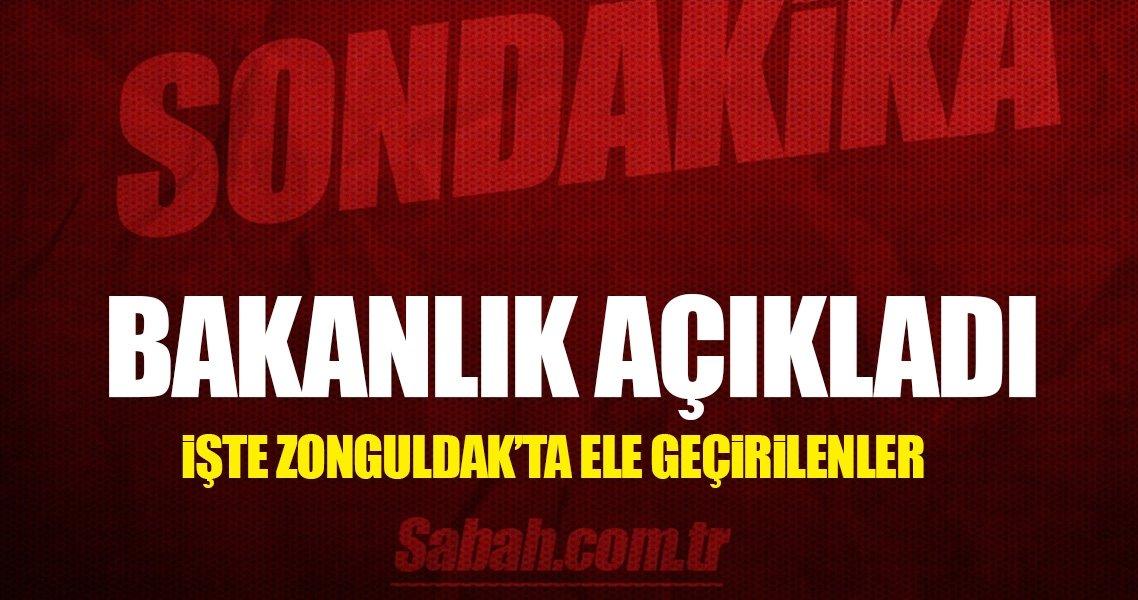 İşte Zonguldak Limanı'nda ele geçirilen malzemeler