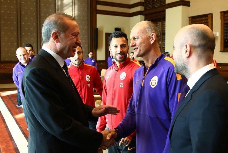 Galatasaray, Erdoğan'ı ziyaret etti
