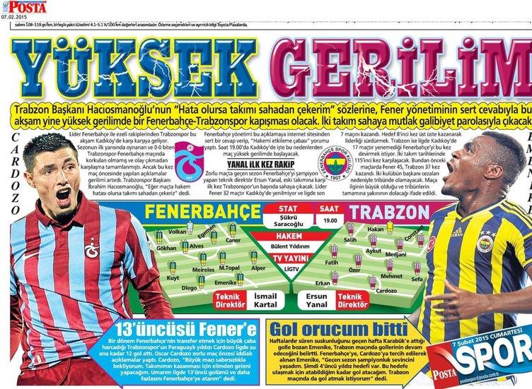 Günün spor manşetleri (07.02.2015)