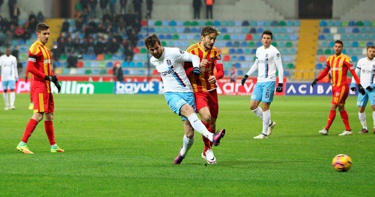Trabzonspor ile Kayserispor 40. defa rakip