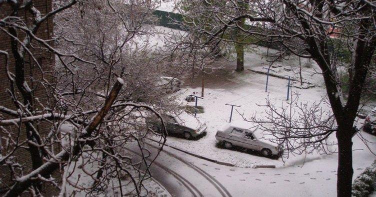 Ukrayna'ya kış geri döndü, bazı şehirler karla kaplandı