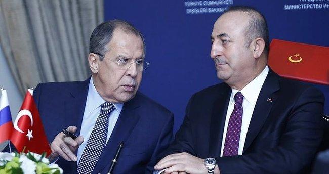 Çavuşoğlu ve Lavrov'dan önemli açıklamalar