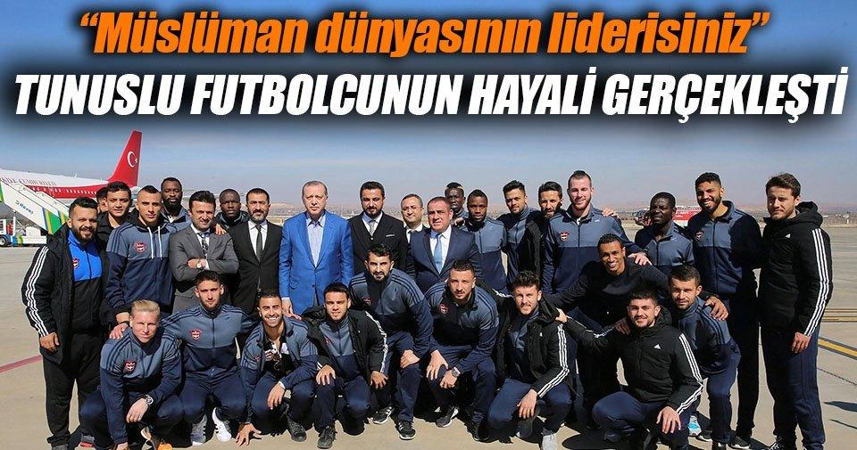 Gaziantepsporlu futbolcunun 'Erdoğan' hayali gerçekleşti