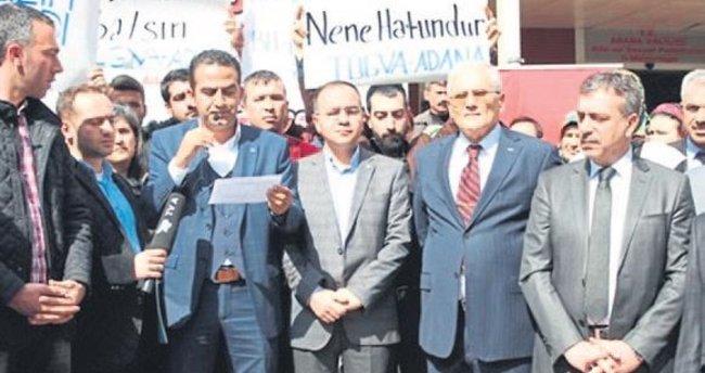 TÜGVA Adana'dan Avrupa'ya tepki
