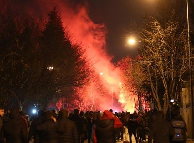 Galatasaray taraftarından derbi tepkisi