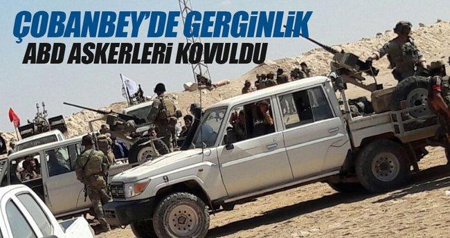 Çobanbey'de gerginlik: ÖSO mensupları ABD askerlerini kovdu!
