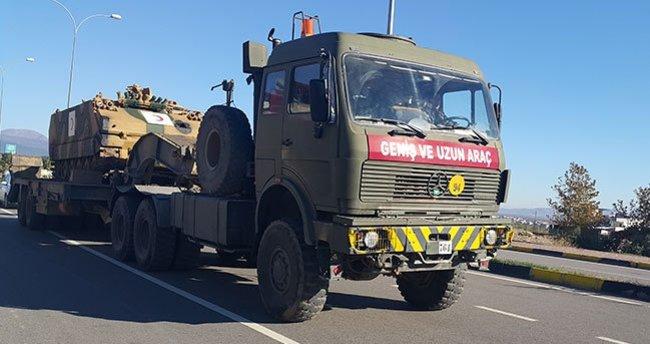 Gaziantep'te sınıra askeri araç sevkıyatı