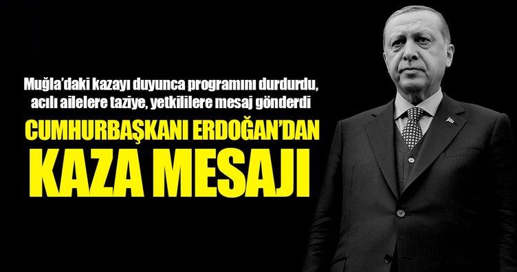 Erdoğan Muğla'daki kaza için tedbir vurgusu yaptı