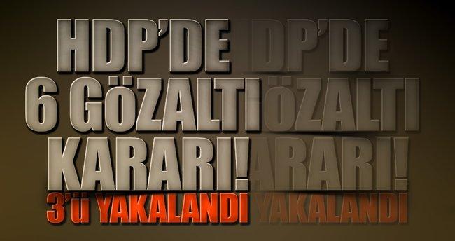 HDP'de grup danışmanlarına gözaltı kararı