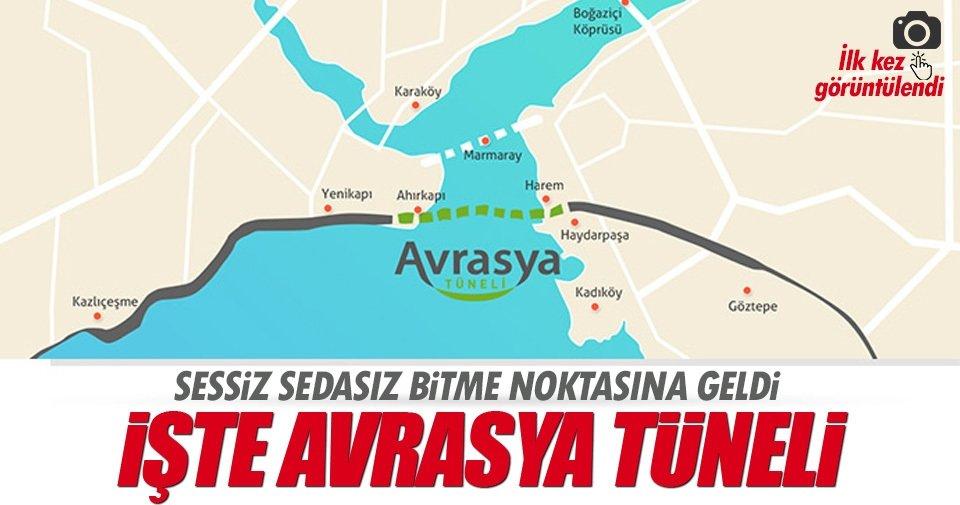Avrasya Tüneli'nde sona gelindi ve çıkış görüntülendi!