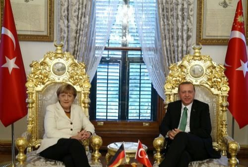 Cumhurbaşkanı Erdoğan, Merkel'i kabul etti