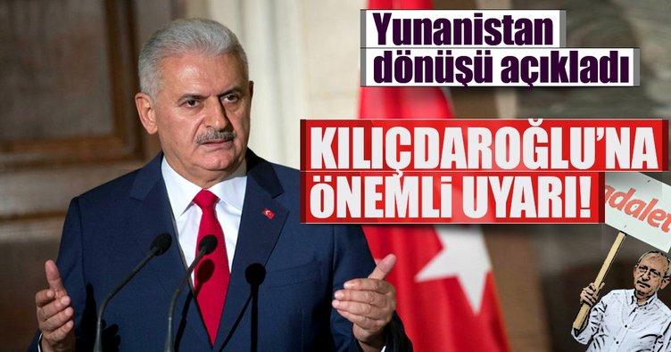 Başbakan Yıldırım'dan Kılıçdaroğlu'na önemli uyarı