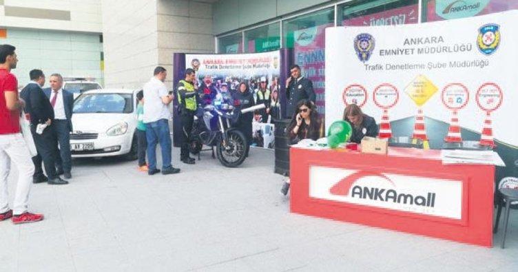 Ankamall AVM'de Trafik Haftası'na renkli kutlama