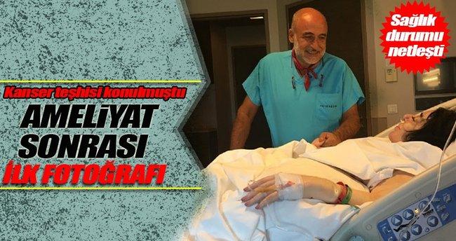 Nur Yerlitaş'ın ameliyat sonrası ilk fotoğrafı