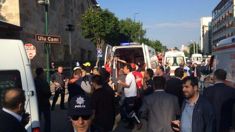Bursa'daki patlamadan kareler