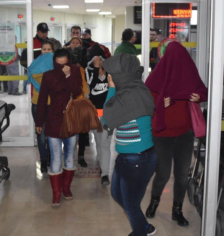 Konya'da fuhuş operasyonu: 15 gözaltı