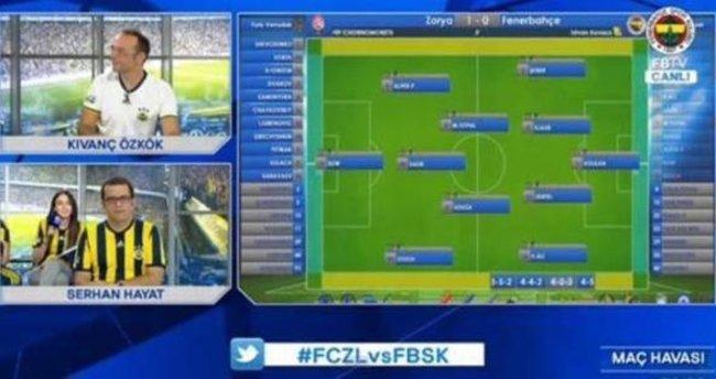 Zorya - Fenerbahçe maçı sırasında FBTV'de şok hata!