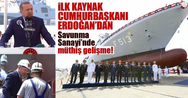 İlk kaynak Cumhurbaşkanı Erdoğan'dan! Savunma Sanayi'nde müthiş proje!