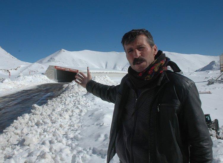 Karabet Kar Tüneli hizmete girdi!