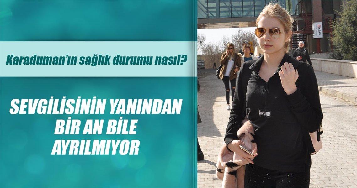 Aleyna Tilki sevgilisi Emrah Karaduman'ın başından ayrılmıyor