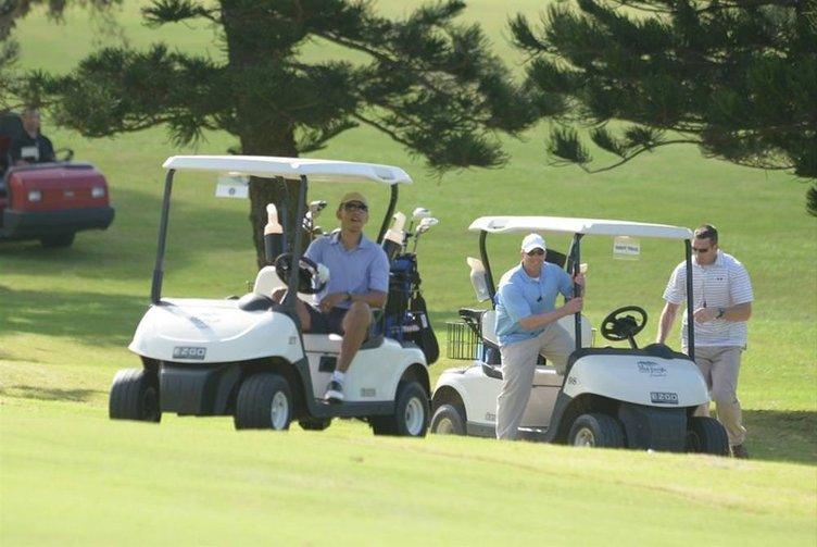 Obama golf sahasında