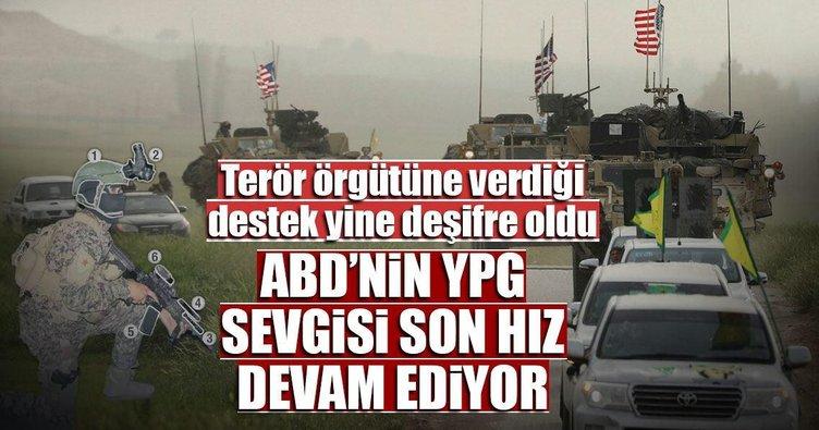 ABD, YPG'li teröristleri donattı