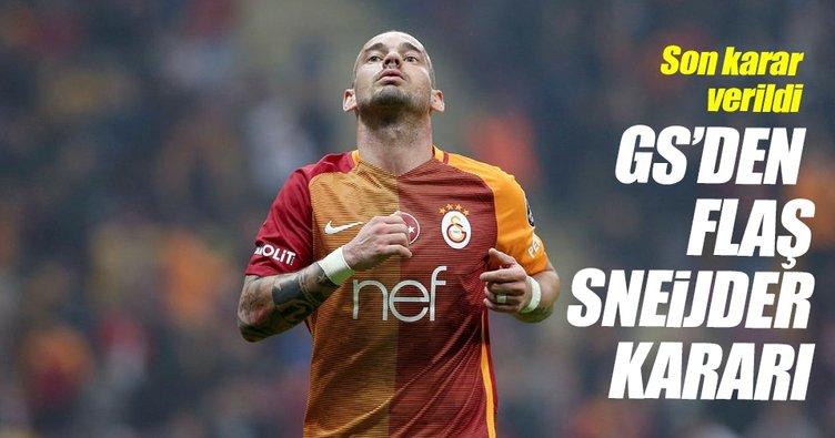 Galatasaray, Sneijder'ı gönderiyor