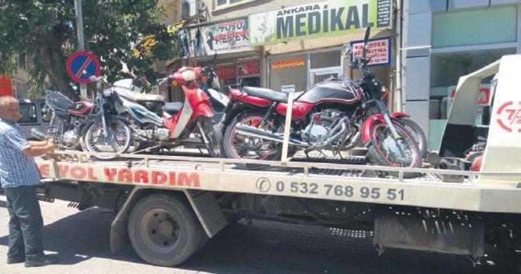 Plakasız motosikletlere denetim