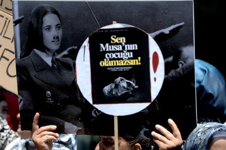 İsrail konsolosluğu önünde dev protesto