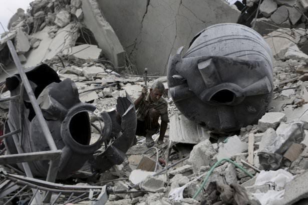 Bombardımanın ardından Gazze