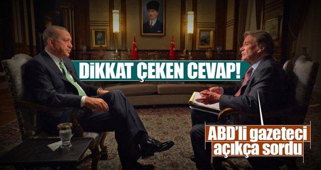 Erdoğan, ABD'nin CBS kanalına önemli açıklamalar yaptı