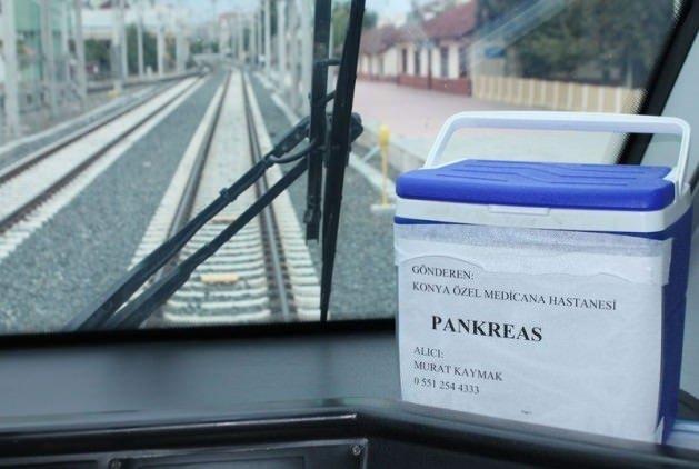 Hızlı trenle organ transferi