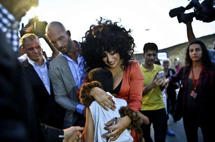 Lady Gaga'ya  İstanbul'da coşkulu karşılama