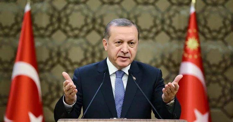 Cumhurbaşkanı Erdoğan'dan kabul