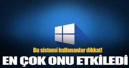 WannaCry'dan en çok Windows 7 etkilendi