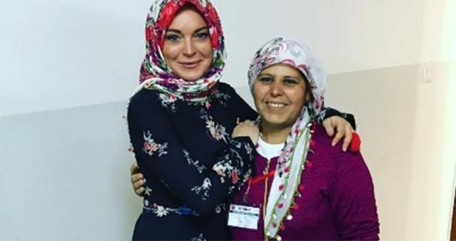 Lindsay Lohan, Gaziantep'ten paylaştı