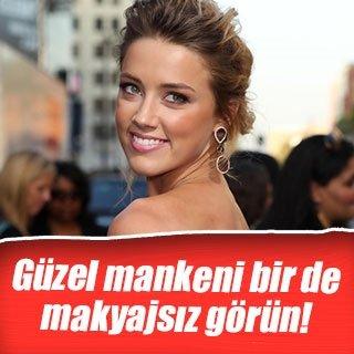Amber Heard makyajsız yakalandı