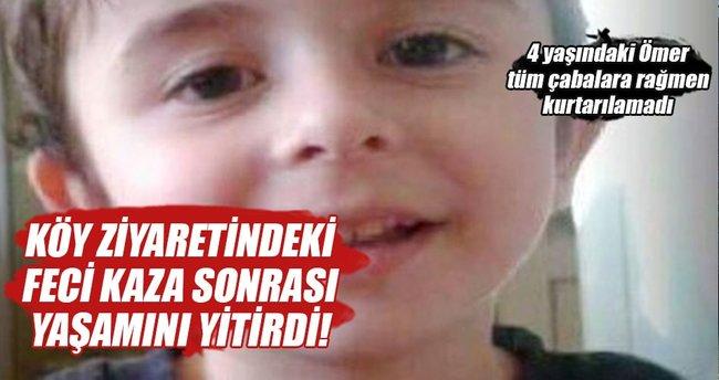 Süt kazanına düşen çocuk hayatını kaybetti