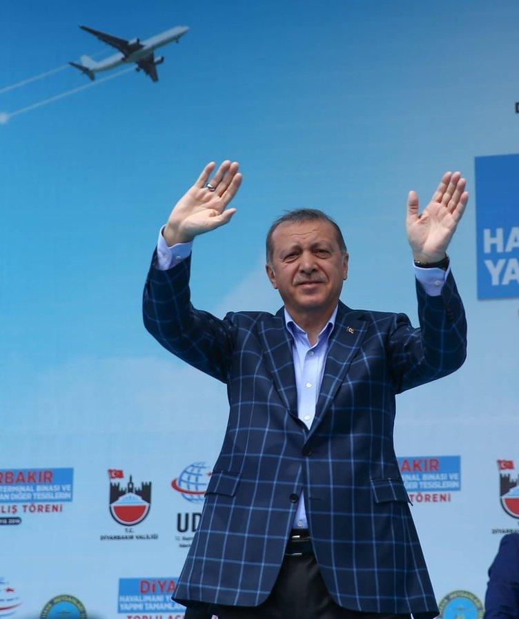 Cumhurbaşkanı Erdoğan'a sevgi seli